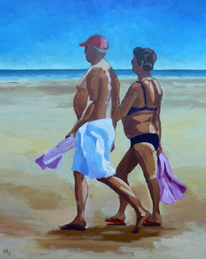Koppel op het strand